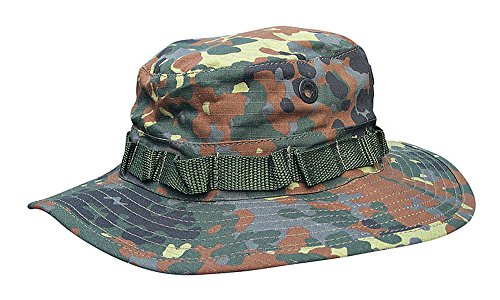 Commando Industries US Army Tropen Hut Boonie Hat Buschut Ripstop Schlapphut Größen (Woodland, M)