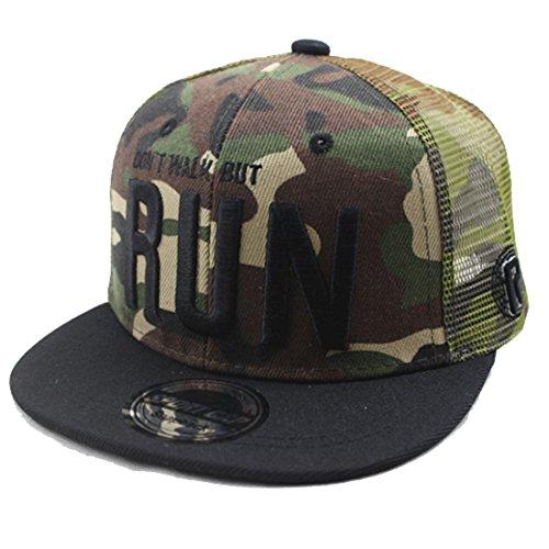 Belsen Kind Hip-Hop AFFE Mesh Cap Baseball Kappe Hut (Stickerei Tarnung)