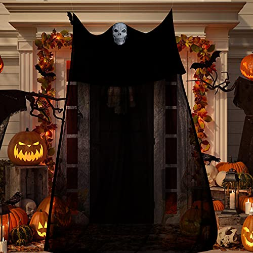 Tmacker Halloween Decorations Outside,11.15×5.9Ft Scary Creepy Indoor/Outdoor Decorations Clearance for Home,Black…