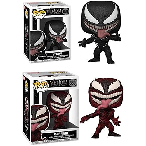 2 Piezas Pop Marvel Venom # 888 Red Venom Carnage # 889 Figura De Vinilo Figuras De Acción Colección Modelo Juguetes Regalo