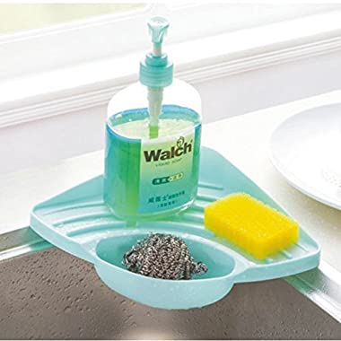 Kitchen Sink Suction Holder, Pretty Handy Sink Caddy for Sponges, Scrubbers, Soap, Kitchen Soap and Sponge Holder for Cleaning Brush - A Must Have for Kitchen and Bathroom (Blue)