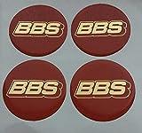 BBS 4 Stück Aufkleber Emblem für Felgen Nabendeckel Radkappen 70mm