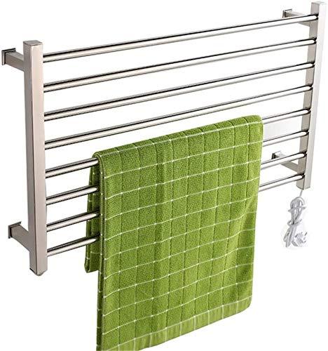 Radiadores de baño Los calentadores de toallas eléctricos, acero inoxidable, montados en la pared, no se oxidan la resistencia a la temperatura de alta temperatura, fácil de usar el rack de toallas de