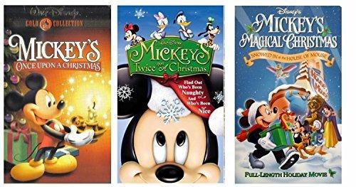 Mickey's Magical Christmas + Mickey's Once Upon A Christmas + Mickey's Twice Upon A Christmas VHS