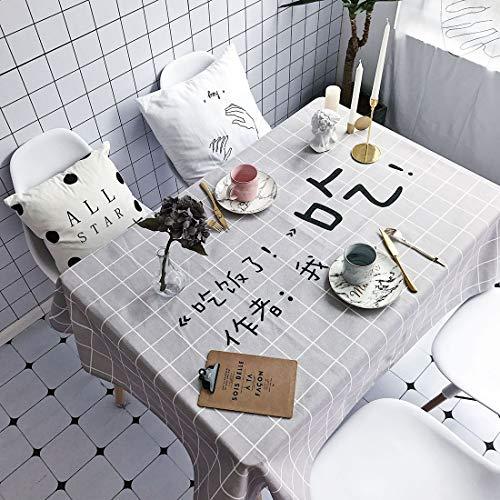 sevenplusone Simple Life Behälter mit Mahlzeiten-Muster, wasserdicht, verbrühungssicher, Baumwolle und Leinen, einfach und praktisch. Größe: 140 x 140 cm