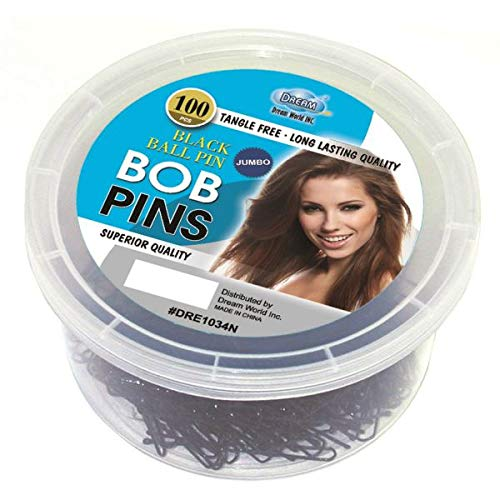 Dream Bobpin Complete Free Shipping Jumbo 100Ct Tub 1 Black Bargain sale Pack of