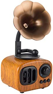 Retro Creative Wireless Bluetooth Audio, Speaker Speaker Loud Volume Phonograph Speaker Portable Mini Portable,Rosewood