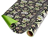 American Greetings Star Wars Paper (1 Roll, 75 sq. ft.) gift wrap, Large, Multicolor