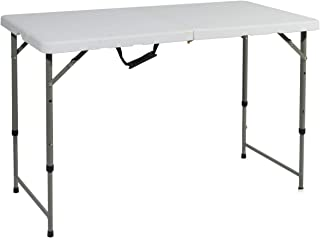 Light Weight NSDCA-HP-180CZ White SogesHome 70 inches Folding Table Adjustable Outdoor Table Outdoor Dining Table Card Table Picnic Camping Table Party Dinner Table Banquet Table Utility Table