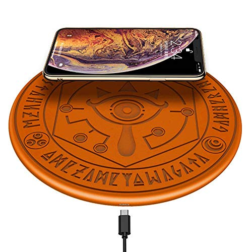 TEEPAO kabelloses Ladegerät, leuchtet magische Matrix, The Legend of Zelda Element Magic Matrix Charger Pad Ultra Slim 10 W Qi Fast für iPhone XS/MAX/8 Plus, Galaxy Note 9/S9 Plus/Note 8/S8 Edge