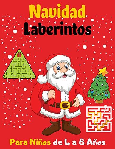 Navidad Laberintos Para Niños de 4 a 8 Años: 63 Laberintos con varias formas y niveles - Grandes regalos para los niños