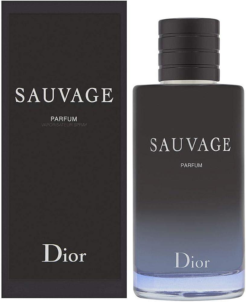 Christian dior sauvage,eau de  parfum,profumo per uomo, 200 ml AF-3348901520065
