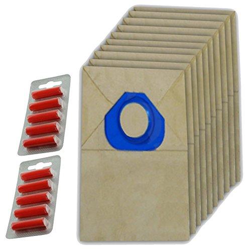 Spares2go papier Sacs à poussière pour aspirateur Nilfisk (lot de 10 + 10 désodorisants)
