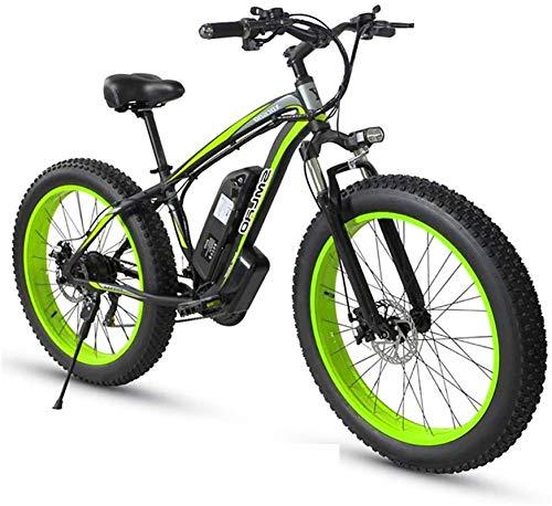 Bici electrica, 1000W de 26 pulgadas Fat Tire Bicicleta eléctrica Montaña Beach moto de nieve for adultos aluminio Scooter eléctrico 21 de velocidad de engranajes E-bici con la batería de litio extraí