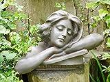 Weiblich Kopf Torso Büste Statue Garten Ornament Lady Skulptur groß Kunstharz 46cm