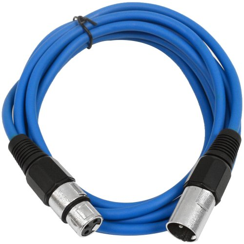 SEISMIC AUDIO - SAXLX-10 - 10  Blue XLR Male to XLR Female Patch Cable - Balanced - 10 Foot Patch Cord