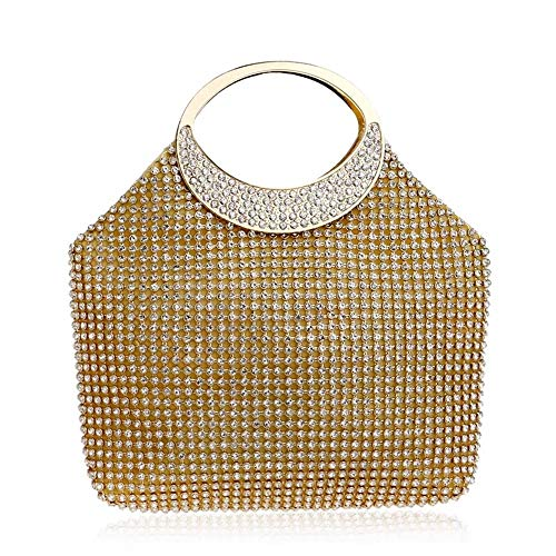 Warm Thuis Ms. Diamond Avondtas Handtas Mode Jurk Banket Avondtas Goud Zilver 16 * 2,5 * 21.5CM Mooi