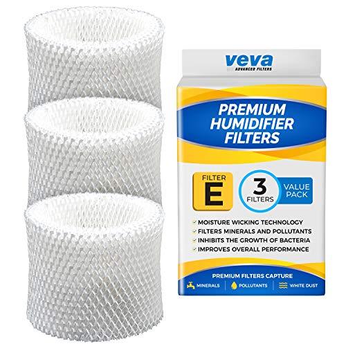 VEVA 3 Pack Premium humidificador filtros de repuesto para HW filtro E, HC-14, HCM-6009, HCM-6011, HEV680, HEV685 Series humidificadores