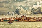 druck-shop24 Wunschmotiv: Segelboot mit Panorama Valletta