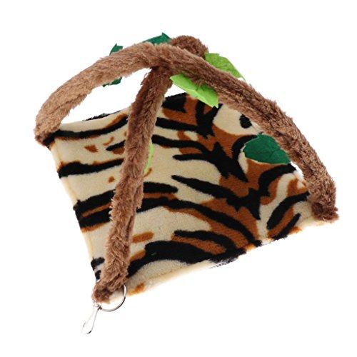 1 St Rat Hamster Papegaai Vogel Ferret Chinchilla Konijn Eekhoorn Huisdier Pluche Hangmat Opknoping Bed Toy House Cage Mat - Unieke Tijgerprint