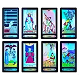 Tarot Cards, Rider Waite Tarot Cards,78 Holographic Tarot Cards Deck Future Telling Game with Colorful Box and Guidebook
