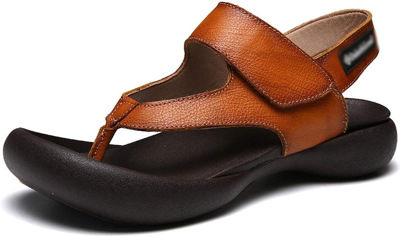 EGS-schuhe Neue Sandalen dicken Boden japanischen Strandschuhe atmungsaktiv lssig Sandalen,Grille Schuhe (Farbe   Braun, Größe   43)