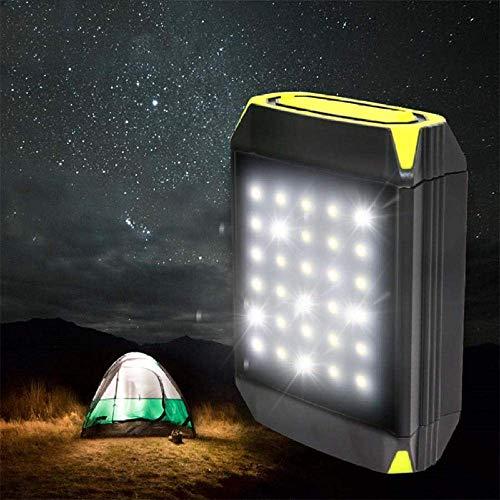 WCY Acampar Camping Luces Luces y linternas Recargable Luz Intermitente El Banco móvil de la Linterna Puerto USB Tienda de campaña al Aire Libre Ligero portátil for Colgar la lámpara Solar yqaae