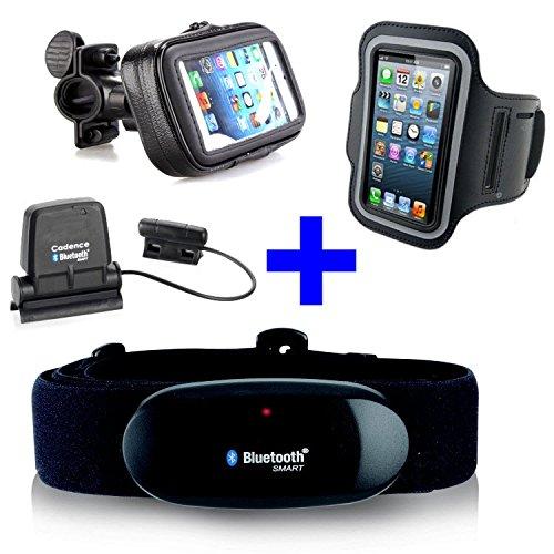 Cinturón Pectoral con Bluetooth 4.0.+ Speed Cadence Bluetooth + Pulsera + Soporte Para Bicicleta Para Iphone 4S/5/5.C/5S/6/6S Para Runtastic y Runtastic Pro Sensor de Cadencia y Velocidad Cuchillo