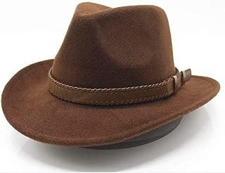 Hat Size 56-58CM Fashion Men Women Cowboy Hat With Belt Wide Brim Hat Wool Trilby Hat Adult Hat Fashion Hat