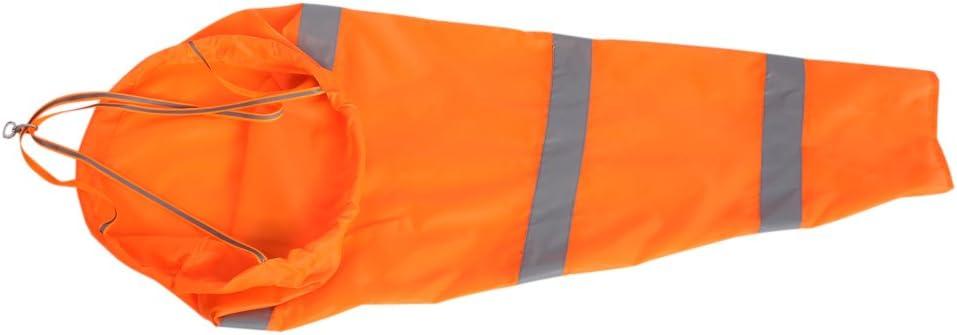 Windsocks Noctilucent Airport Aviation Waterproof Windsock Reflective Strips Wind Measurement Bag Small 100cm Windsock