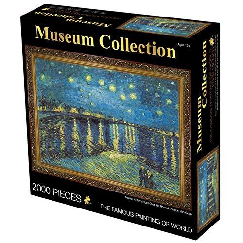 Puzzle Adultos Puzzles de 2000 Piezas Las dificultades Mona Lisa Rompecabezas de la Vendimia for el Adulto Art Puzzle Literatura for Wall (Color : 4)