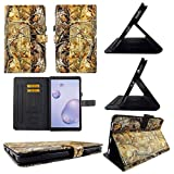 TPU Shell Case for Samsung Tab A 8.4 2020 SM-T307 Camo RT Slim PU Leather Folding Stand Cover with Auto Wake/Sleep for 8.4 Inch
