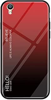 IVY Glare Series Oppo F1 Plus Phone Cover Accessories [Glass Shell][Gradient Case] Bumper Shockproof for Oppo F1 Plus/R9 - Red-Black