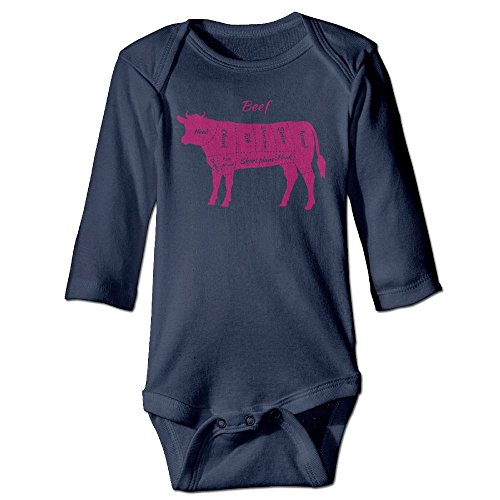 American Cuts Of Beef Funny Baby Girl Boys Long Sleeve Baby's Crawling Suit Jumpsuit
