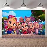 Fondo de fotografía Fiesta de Feliz cumpleaños Banner Baby Shower Girl Telón de...