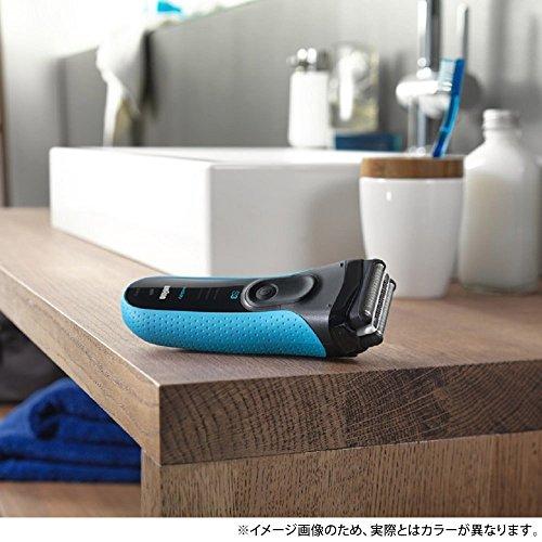ブラウンメンズ電気シェーバーシリーズ33080s-S3枚刃水洗い/お風呂剃り可シルバー