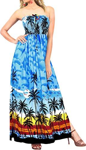 Trajes de baño Halter Maxi Cuello Encubrir Traje de baño de Las Mujeres de la Falda de la Parte Superior del Tubo del Vestido Azul Vestido de Verano