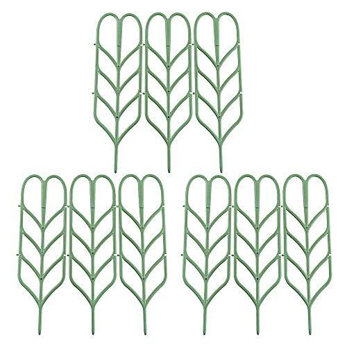Nirmon DIY Enrejado De Jardín para Plantas Trepadoras, Flores Vegetales Vides en Maceta De Rejas De Alambre De Patio para Hiedra Rosas Pepinos Clemátide Soportes De Macetas