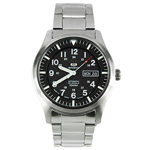SEIKO Men's self-Winding Watch Made in Japan Black SNZG13J1