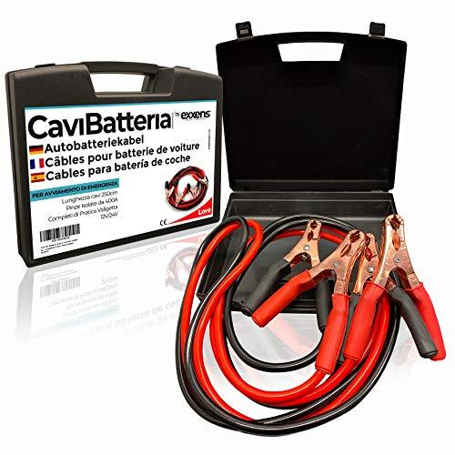 Câbles de connexion pour batterie de voiture dans un étui pr