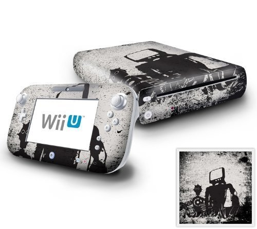 Nintendo Wii U Console and GamePad Decal skin Sticker - RFF Robot Friends Forever