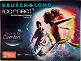 Bausch & Lomb iconnect Monthly Contact Lens (-1.00, Transparent, Pack of 3)