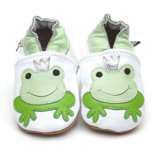 Weiche Leder Baby Schuhe Prinz Frosch 6-12 monate