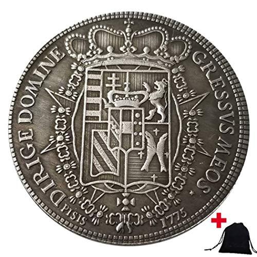 DDTing 1775 historische handgeschnitzte italienische Münzen - Great Europe Münzen aus Italien - Unzirkulierte alte Gedenkmünze + KaiKBax Tasche - It's Handmade Coin goodService