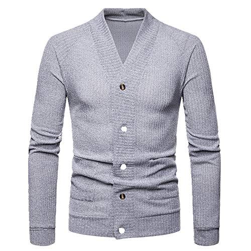 U/A suéter de los hombres de gran tamaño de la cárdigan de los hombres de punto solo pecho