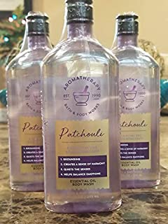 Bath and Body Works Aromatherapy Value Pack - NEW PATCHOULI Essential Oil - Body Wash Lot of 3