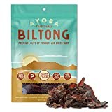 Ayoba Biltong - Grass Fed, Keto and Paleo Certified Air-Dried Beef Snack - Better Than Jerky Tender Steak Cuts - Whole 30 Approved, No Sugar, Gluten Free, No Nitrates (2 Ounce)