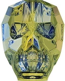 5750 Swarovski Crystal Beads Skull 13mm | Crystal Iridescent Green | 13mm - Pack of 3 | Small & Wholesale Packs