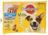 PEDIGREE Perros Forro húmedo Forro Vital Protection Adult/pastete con Vacuno/Gallina y Zanahorias, 13er Pack (13x 4x 100g)