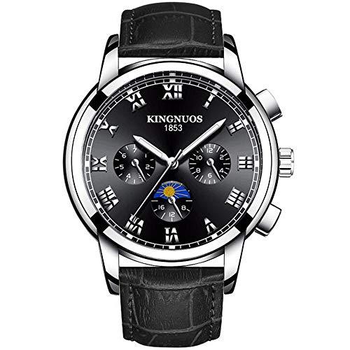 ZSDGY Reloj Impermeable para Negocios, Reloj Luminoso para Hombres, Reloj de Cuarzo Art Dial I